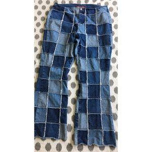Vintage 90's Zana Di Patchwork Jeans 18 Plus Denim